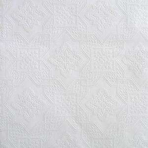 The Wallpaper Company 56 Sq.ft. White Paintable Wallpaper (WC1285678