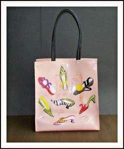 The METROPOLITAN Museum of ART Pink Vinyl TOTE Bag PURSE Shoes
