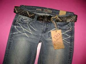 NWT YMI Low Rise Boot Cut Flap Pocket Rhinestone Jeans