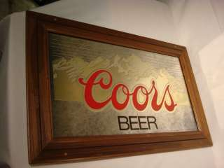 C1 COORS BEER SIGN MIRROR VINTAGE BAR ADVERTISING VINTAGE OLD BREWERY