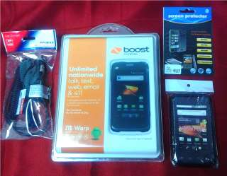 Brand New/SEALED Boost Mobile ZTE WARP Smartphone w/ FREE ACCESSORIES