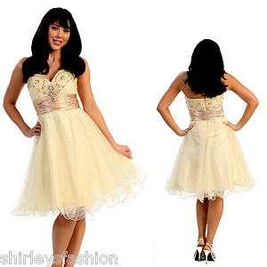 Short Strapless Prom Bridesmaid Formal Dress XS S M L XL 1XL 2XL 3XL