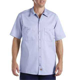 DICKIES MENS SHORT SLV INDUSTRIAL DK NAVY STATION SHIRT