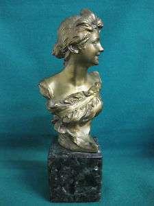 Georges van der Straeten Bronze junge Frau 24 cm Figur