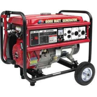 6000 Watt 13HP Generator With Mobility Kit APG3009N at The Home Depot