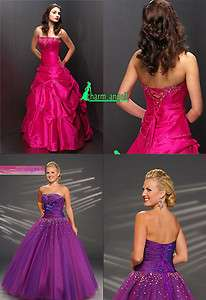 Stock Prom/Party/ Evening/Ball Dresses Bridesmaid Gowns Size 6 8 10 12