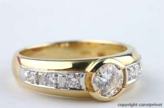 Solitär Brillant Ring Gold mit Brilliant Diamant 0,6 ct