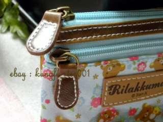 SanX Rilakkuma Relax Bear Forest Series Key Purse Wallet Card Bag