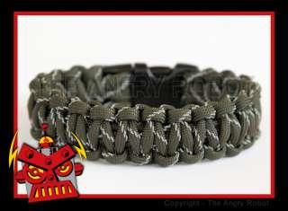 550 Paracord Survival Bracelet   OD Green Reflective