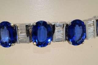 66,500 45.75CT CEYLON BLUE SAPPHIRE & DIAMOND BRACELET VS 18K WHITE