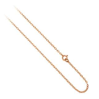 1mm Rolo Chain Necklace in Rose Gold Plated Silver