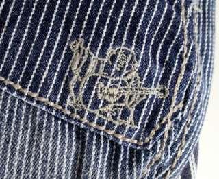 True Religion Jeans Driver CAP DENIM IVY hat pinstripe TR1305