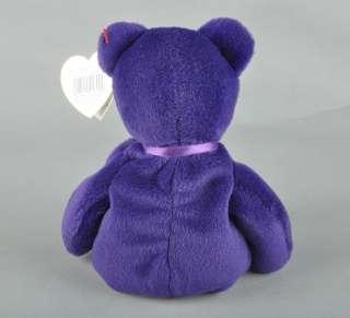 1997 TY Beanie Baby Princess Diana Bear RARE 1st Edition PVC Pellets