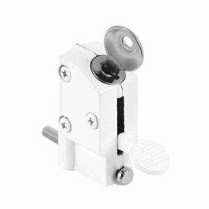Line White Keyed Step On Sliding Door Lock U 9884