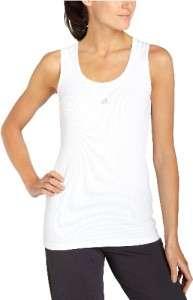 NWT! ADIDAS Womens Slim Fit Rib Tank Top WHITE Sz XL