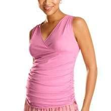 NWOT GAP MATERNITY PINK Top Shirt XXL 2X 20 Plus Ruched