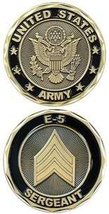 SERGEANT US ARMY MILITARY CHALLENGE COIN