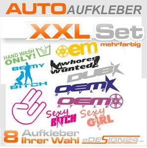 E169 Shocker DUB OEM Aufkleber Sticker VW GOLF AUDI SET