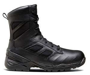 TERRA UNITY BLACK LEATHER SAFETY 8 COMBAT BOOTS
