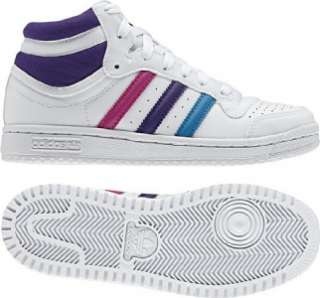 TOP TEN HI GIRLS HIGH TOPS TRAINERS/SNEAKERS WHITE PINK SIZES:10 6.5