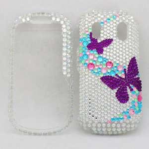 Purple Butterfly Hard Case Cover For Samsung Intensity II 2 U460