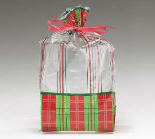 TARTAN PLAID GIFT BAGs Tote CHRISTMAS Blue Green SET 2