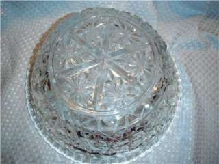 Elegant Starburst Large 10 Fruit Salad Bowl Clear Glass