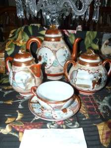 1890s Japanese Geisha Girl Tea Set