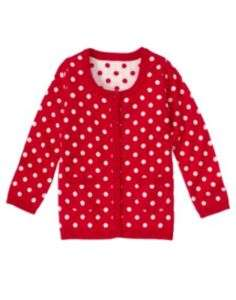 GYMBOREE VALENTINES DAY RED DOT SWEATER 3 4 5 6 7 8 10