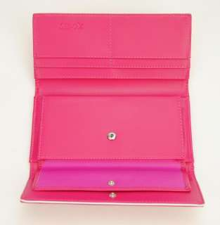 Womens Candy Colour Trifold Clutch Snap Wallet Checkbook Card Holder