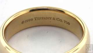 TIFFANY & CO 1994 HEAVY 18K YELLOW GOLD MENS WEDDING BAND RING