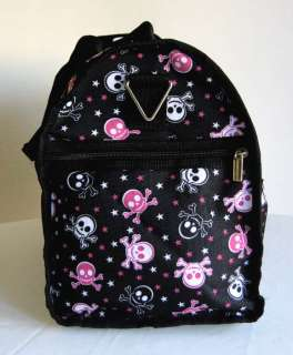 19Duffel/Tote Bag Luggage/Purse Travel Case Skull Pink