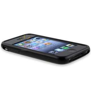 Black TPU Soft Gel Rubber Skin Case Cover for Apple iPhone 3 G 3GS USA