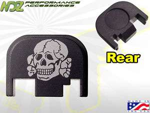Rear Cover Plate for Glock 17 19 20 21 22 23 Death Head