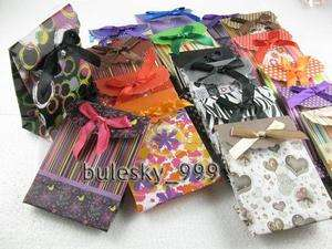 Shopping&Gift Packing With Ribbon Paper Bags 10.5x7.5x4cm P619