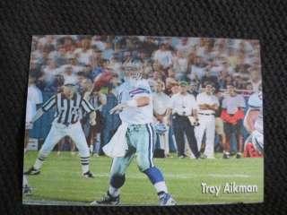 Troy Aikman 1998 Official NFL Film QB Club 3 1/2 x 5 3D Motion Card