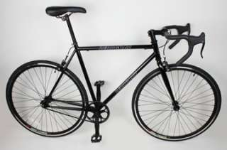 NEW 54cm Track Fixed Gear Bike Fixie Single Speed Road Bicycle   Black