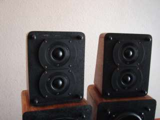 VINTAGE M&K MILLER KREISEL SATELLITE 1B BOOKSHELF SPEAKERS NICE