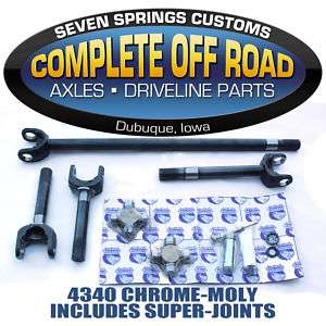 Front 1985 1988 Ford Dana 60 4340 Axle Kit A W26016