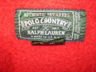 vtg Ralph Lauren Polo Country USA Hoodie denim jacket L