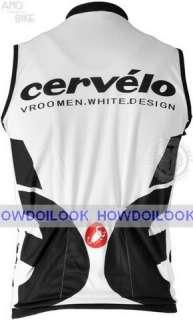 CERVELO BLACK WHITE TEAM CYCLING VEST JERSEY SLEEVELESS BIKE SHIRT