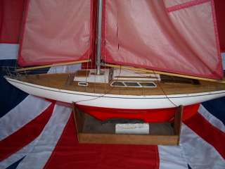 Graupner Gracia Wooden Model Yacht German c1965