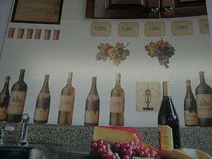 WINE TASTING WINE BOTTLES PEEL AND STICK WALL DECALS RMK1257SCS