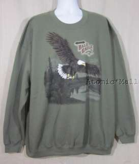 Mens George Sweat Shirt Spread American Bald Eagle 3XL