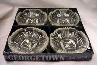 Federal Glass Georgetown Ashtrays Coasters Set of 4