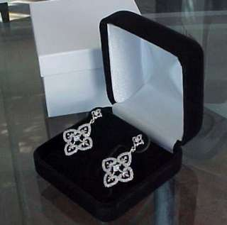 extra deep Hoop Stud Dangle Omega T Stand Earring Gift Box