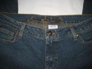 ARIZONA JEAN Flare Leg Cotton Stretch Denim 13R 34x32