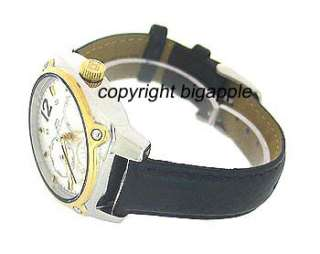 TOMMY HILFIGER DAY & DATE LEATHER MENS WATCH 1780869