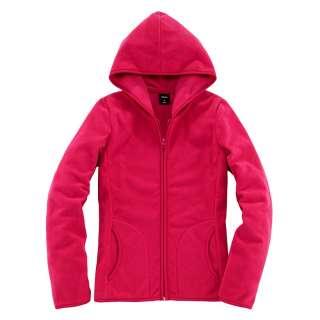 Polar Fleece Zipper Hoodie (Womens/Ladies)Red S M L XL #138538