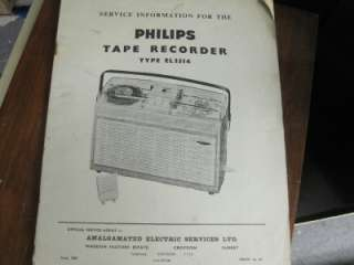 phillips el3514 reel to reel service manual